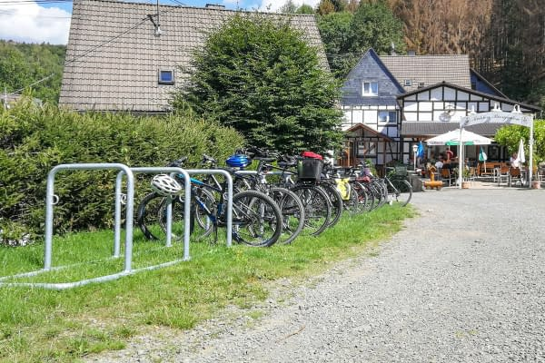 Bicycle parking system made of bicycle lean-to system GALAXY