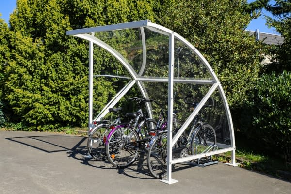 Bamberg bicycle shelter with arched roof