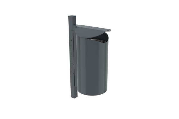 Shelter systems waste bins and ash trays