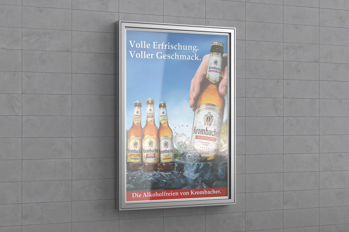 Advertising in City-Light showcase for wall mounting