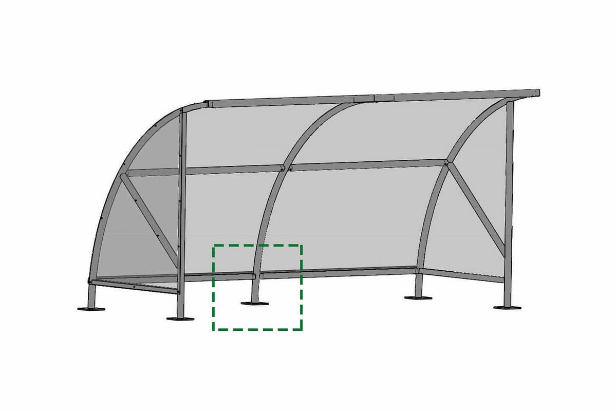 Drawing of a bicycle roofing
